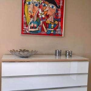 bacio torero dipinto rosso arte moderna quadri moderni alessandro siviglia