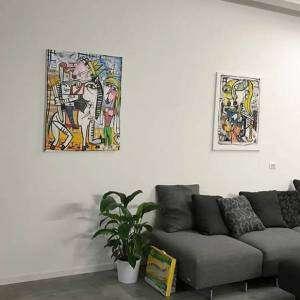 dipinti 100x80 cm misure medie grande casa