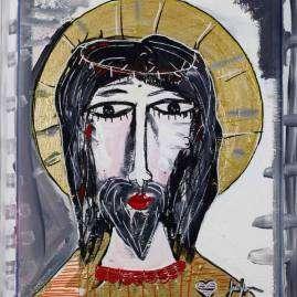 dipinti sacri-quadri arte sacra-ritratto di Gesù-alessandro siviglia