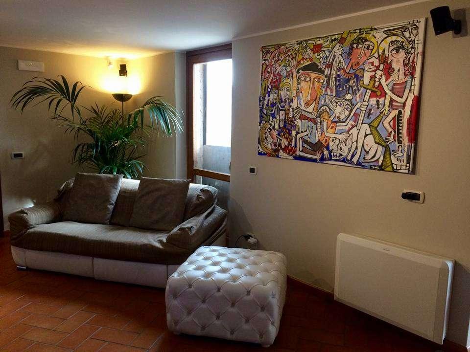 dipinto arredamento soggiorno dipinto grande originale alessandro ...