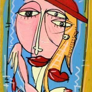 dipinto volto di donna disegno
