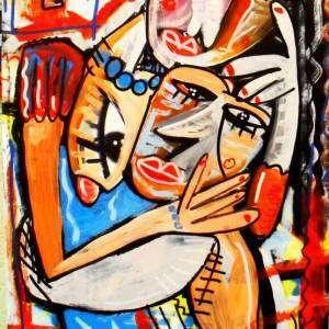 madre che accarezza il figlio quadri moderni