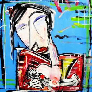 donna cinese dipinto su tela