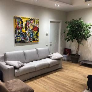 dipinto grande soggiorno olio su tela arte contemporanea alessandro siviglia