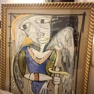 dipinto moderno arcangelo Michele Alessandro Siviglia artista Roma