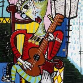 quadro-moderno-musicista-che-suona-la-chitarra