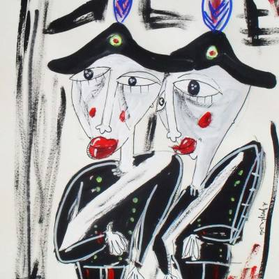 quadro due carabinieri