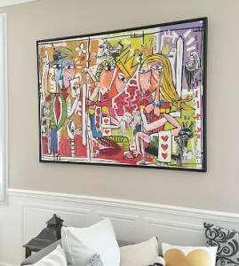 quadri per arredamento casa-quadri moderni dipinti a mano su tela