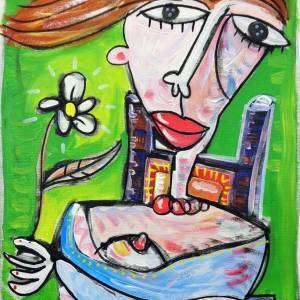 italia dipinto moderno olio su tela