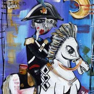 carabiniere a cavallo arte contemporanea