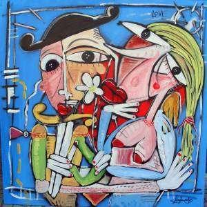 dipinto moderno matrimonio