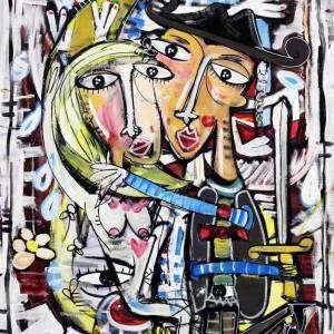 la lunatica dipinto quadri moderni roma