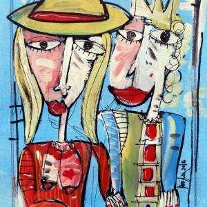 dipinto moderno la spagnola