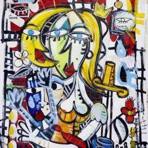dama di compagnia veneziana quadri moderni venezia