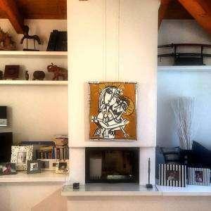 quadro moderno con oro collocato in soffitta alessandro siviglia