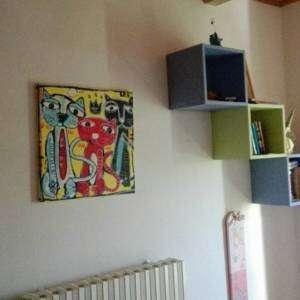 quadro moderno gatti, animali dipinti, gatti colorati, camera bambini dipinti moderni gatti