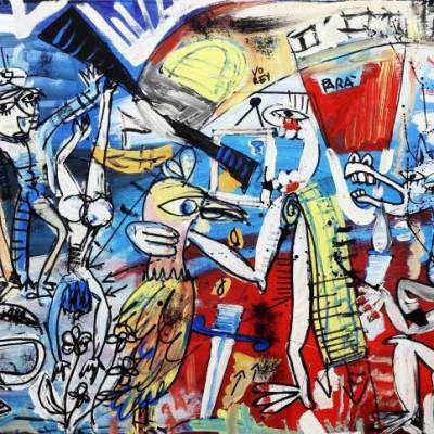 """dipinto moderno Brigata paracadutisti """"Folgore"""""""