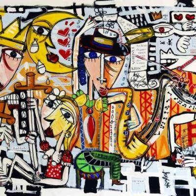 il concerto jazz dipinto arte contemporanea