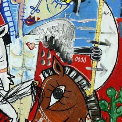 pintura del ayuntamiento de alcoy cocentaina
