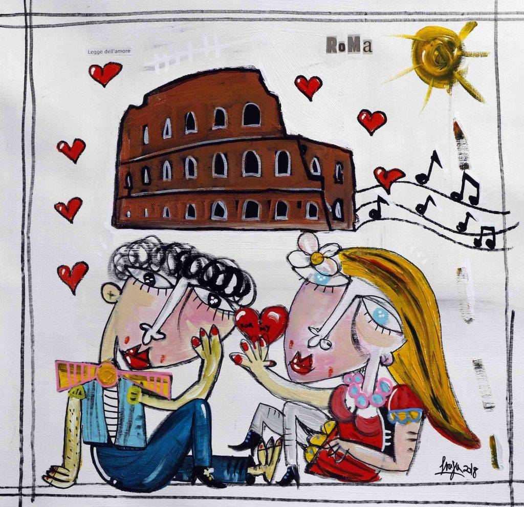 From Rome with Love - quadro moderno con Colosseo