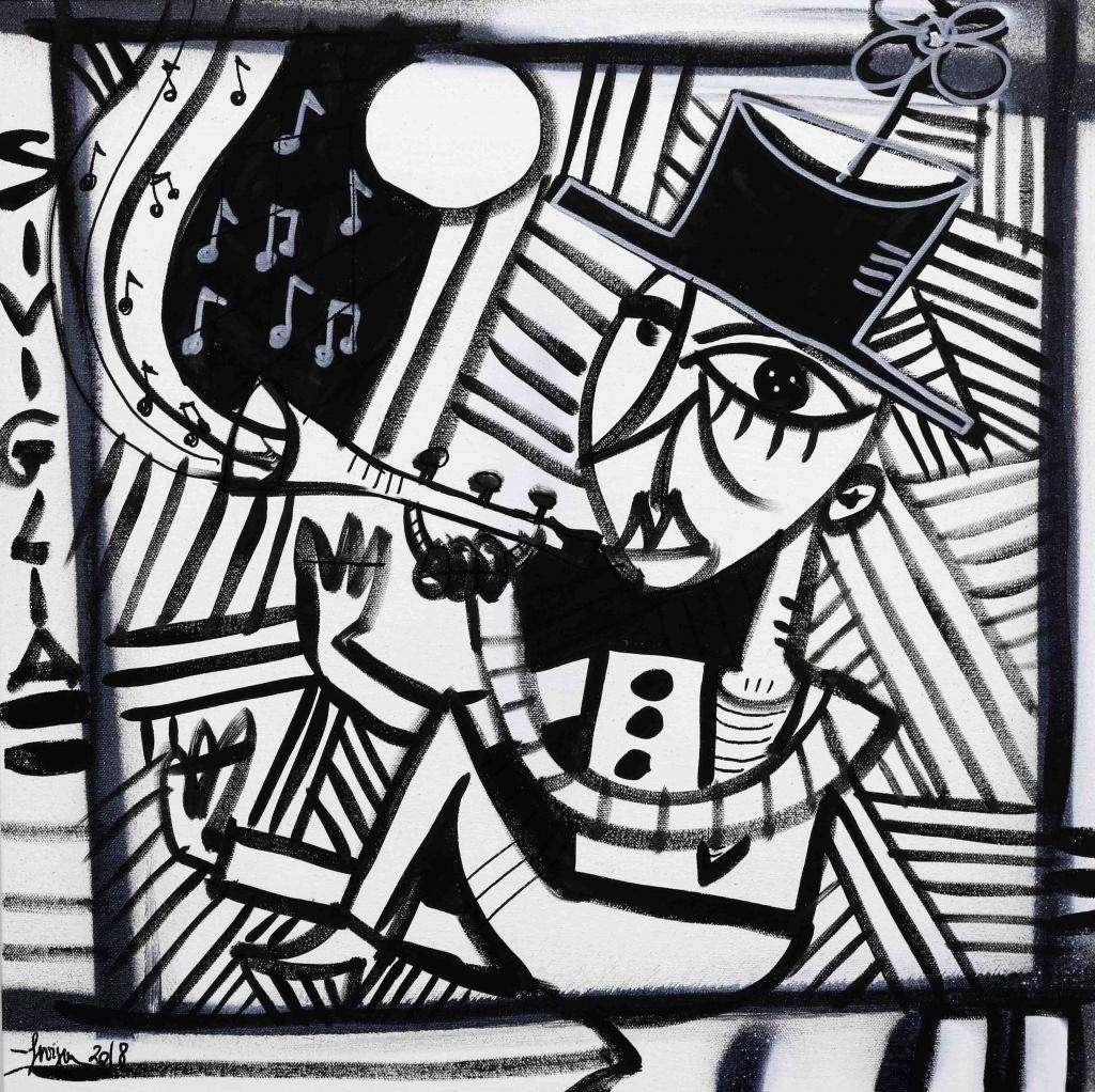 Il trombettaio - uomo che suona la tromba