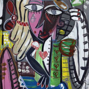 morosyta quadro moderno ragazza mora 70x50 cm