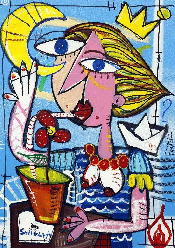 summertime - quadro moderno vendita a roma alessandro siviglia