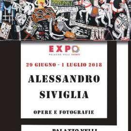 mostra di pittura a roma - trastevere- alessandro siviglia- 29 giugno 2018