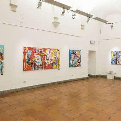 Mostra di pittura presso il Palazzo Velli - foto della sala