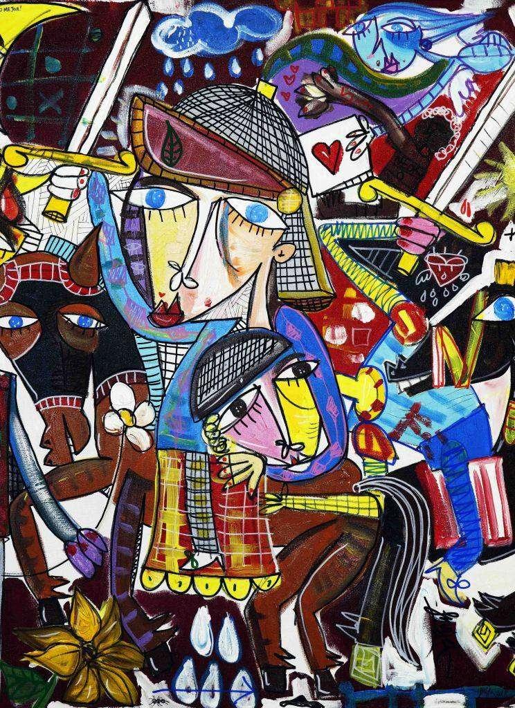 Fuoco e spade - dipinto originale di Siviglia