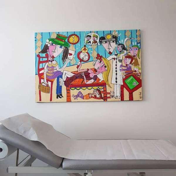 Quadro Moderno su Commissione per Medici e Dottori-Artista Alessandro Siviglia