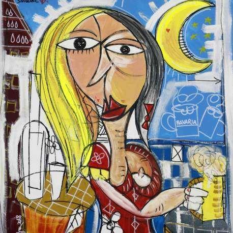 donna bavarese, Bavaria quadro moderno