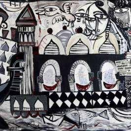 Super Venice-quadro su commissione sulla città di venezia