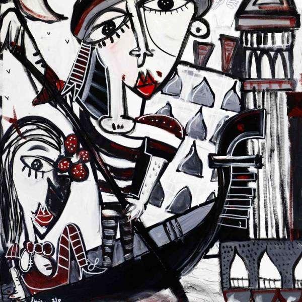 100x200 Super Venice_gondoliere con campanile