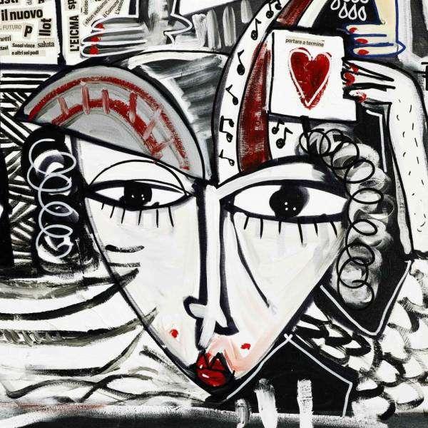 100x200 Super Venice_maschera carnevale di venezia_quadro moderno