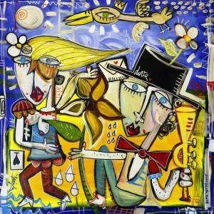 notte fuitina quadro moderno simile a van gogh