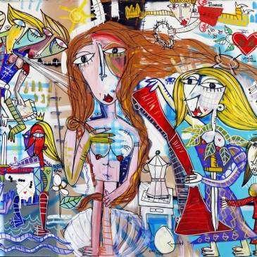"""Omaggio al capolavoro di Botticelli """"La Nascita di Venere"""""""