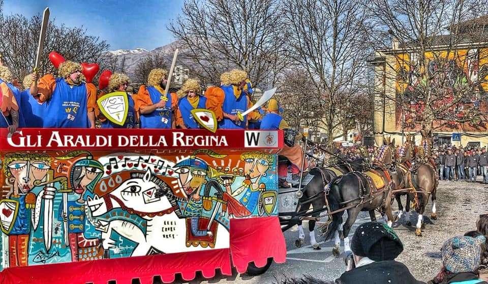 Gli Araldi della Regina - dipinto da Alessandro Siviglia -Carnevale Ivrea