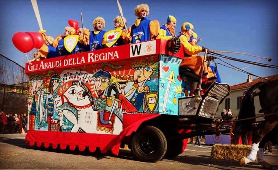 carro decorato da alessandro siviglia - carnevale storico ivrea 2019