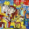 La Nuova Frontiera quadro moderno olio su tela