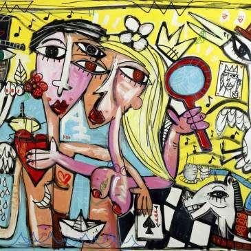 Dipinto originale su tela, cura il mio cuore, dipinto olio su tela pezzo unico