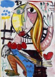 quadro moderno per soggiorno, quadri allegri