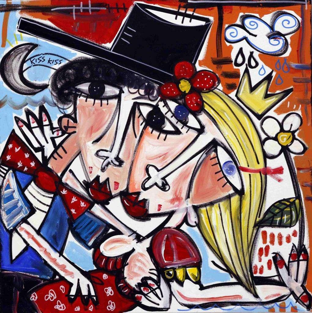 dipinto olio su tela regalo per il matrimonio lista nozze