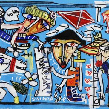 quadro moderno su tela pezzo unico dipinto originale azzurro