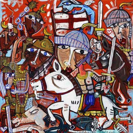 50x50 La Storia Continua, quadri moderni per arredare il soggiorno