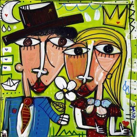 50x50 Riflesso di Luna, quadri moderni per regalare alle nozze d'argento, matrimonio lista nozze regali originali