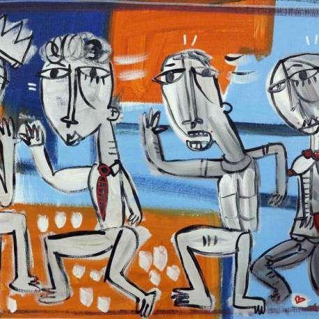 45x77 I Corridori, olio su tela quadri moderni in vendita a salerno, alessandro siviglia