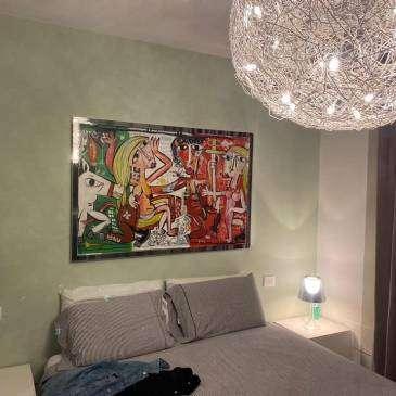 Quadri dipinti a mano per la camera da letto