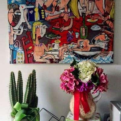 dipinti moderni molto colorati da regalare per chi compie gli anni durante la quarantena