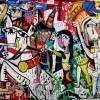 Dipinto grande su tela senza senso 112x201 cm con telaio a vista Alessandro Siviglia